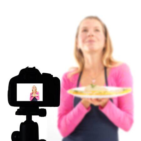 Food blog, Healthy food presentation, raw food concept Imagens