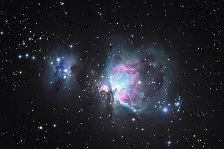 Great Orion Nebula M42, in the constellation of Orion, Milky Way Фото со стока