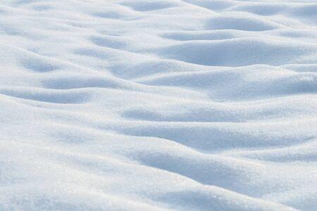 Deep snow drifts Winter background