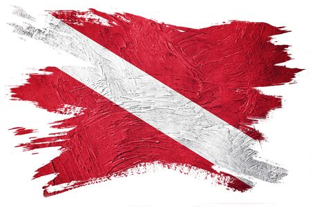 Diver Down Flag, Vintage Style Scuba flag. Stok Fotoğraf