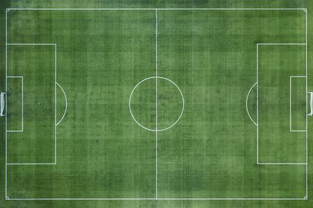 Soccer Field, Football Field, Green Grass Football Field Background Stockfoto