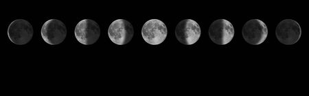 Phases of the Moon. Lunar cycle.