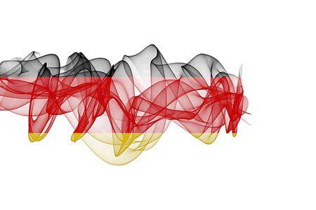 Germany Smoke Flag on White Background, Germany flag
