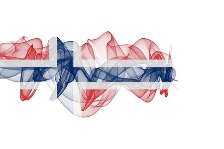 Norway Smoke Flag on White Background, Norway flag