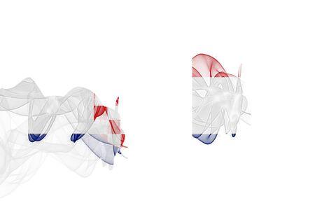 Croatia Smoke Flag on White Background, Croatia flag
