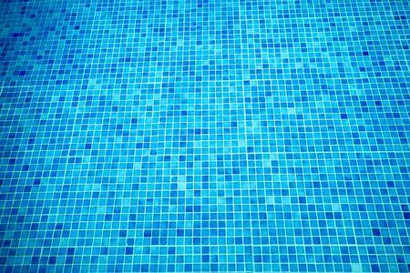 Underwater Swimming Pool Blue Tile, Water Ripples of Swimming Pool