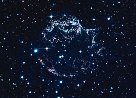 Remains  a supernova explosion. Cassiopeia A.       . Retouched . Stock Photo