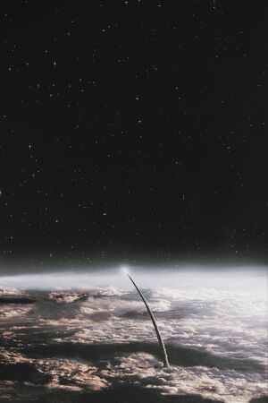 Space exploration earth and night sky background  Some        .