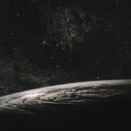 Terre et galaxie. Espace Ciel Nocturne Certains. Banque d'images