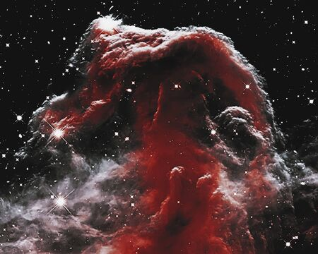 The Horsehead Nebula in the constellation Orion (The Hunter) .