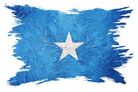 Grunge Somalia flag. Somalia flag with grunge texture. Brush stroke. 版權商用圖片
