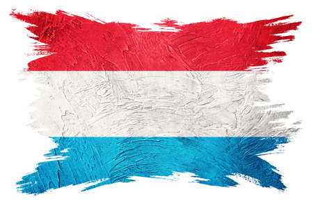 Grunge Luxembourg flag. Luxembourg flag with grunge texture. Brush stroke.