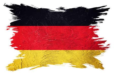 Grunge Germany flag. German flag with grunge texture. Brush stroke.