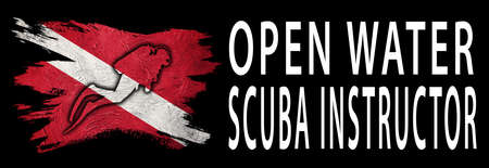 Open Water Scuba Instructor, Diver Down Flag, Scuba flag, Scuba Diving