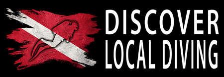 Discover Local Diving, Diver Down Flag, Scuba flag, Scuba Diving