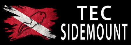 Tec Sidemount, Diver Down Flag, Scuba flag, Scuba Diving Фото со стока