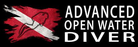 Advanced Open Water Diver, Diver Down Flag, Scuba flag, Scuba Diving
