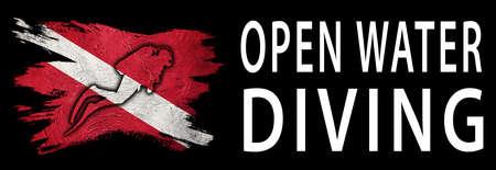 Open Water Diving, Diver Down Flag, Scuba flag, Scuba Diving