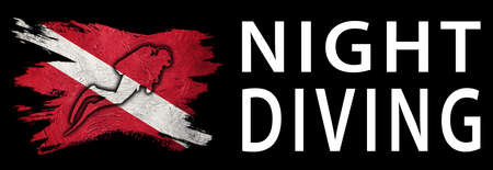 Night Diving, Diver Down Flag, Scuba flag, Scuba Diving