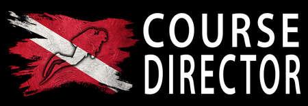 Course Director, Diver Down Flag, Scuba flag, Scuba Diving