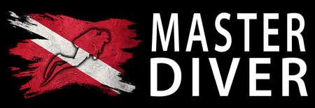 Master Diver, Diver Down Flag, Scuba flag, Scuba Diving