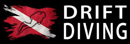 Drift Diving, Diver Down Flag, Scuba flag, Scuba Diving Фото со стока
