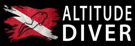 Altitude Diver, Diver Down Flag, Scuba flag, Scuba Diving Фото со стока