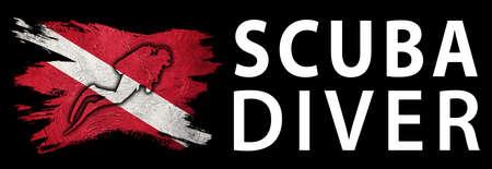 Scuba Diver, Diver Down Flag, Scuba flag, Scuba Diving