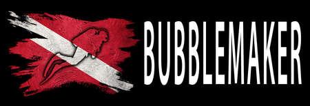 Bubblemaker young diver, Diver Down Flag, Scuba flag, Scuba Diving Фото со стока