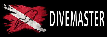 Divemaster, Diver Down Flag, Scuba flag, Scuba Diving