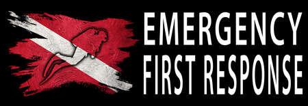Emergency First Response, Diver Down Flag, Scuba flag, Scuba Diving