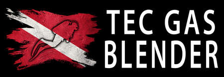 Tec Gas Blender, Diver Down Flag, Scuba flag, Scuba Diving