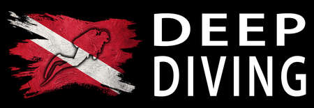 Deep Diving, Diver Down Flag, Scuba flag, Scuba Diving