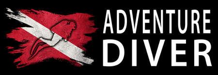 Adventure Diver, Diver Down Flag, Scuba flag, Scuba Diving
