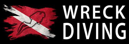 Wreck Diving, Diver Down Flag, Scuba flag, Scuba Diving Фото со стока