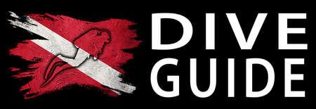 Dive Guide, Diver Down Flag, Scuba flag, Scuba Diving Фото со стока