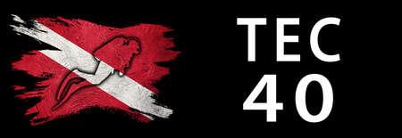 Tec 40, Diver Down Flag, Scuba flag, Scuba Diving