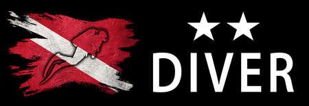 Two Star Diver, Diver Down Flag, Scuba flag, Scuba Diving