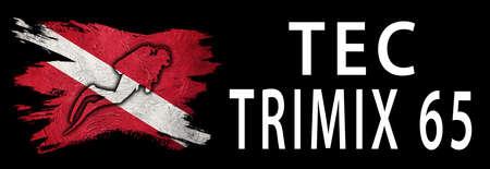 Tec Trimix 65, Diver Down Flag, Scuba flag, Scuba Diving