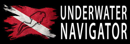 Underwater Navigator, Diver Down Flag, Scuba flag, Scuba Diving
