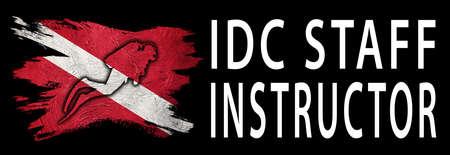 IDC Staff Instructor, Diver Down Flag, Scuba flag, Scuba Diving Фото со стока