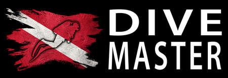 Dive Master, Diver Down Flag, Scuba flag, Scuba Diving