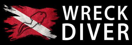 Wreck Diver, Diver Down Flag, Scuba flag, Scuba Diving