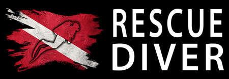 Rescue Diver, Diver Down Flag, Scuba flag, Scuba Diving