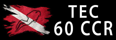 Tec 65 CCR, Diver Down Flag, Scuba flag, Scuba Diving Фото со стока