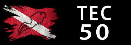 Tec 50, Diver Down Flag, Scuba flag, Scuba Diving Фото со стока