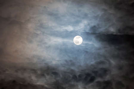 Full Moon with clouds at Night, Dramatic clouds in the moonlight