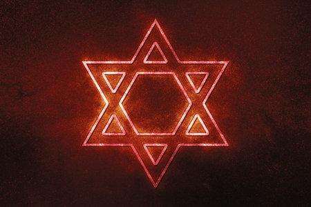 Jewish Star of David Six Pointed Star, Blue Symbol