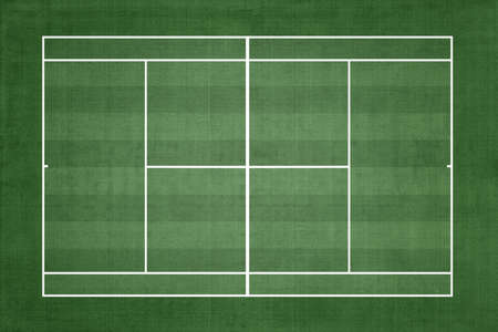 Tennis Court Grass cover, Top view, Sport background