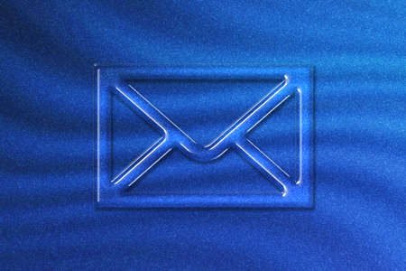 Mail sign, Mail symbol, Email icon, blue glitter background